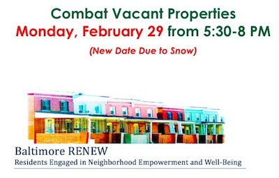 Combat Vacant Properties Date Changed to 02/29/2016